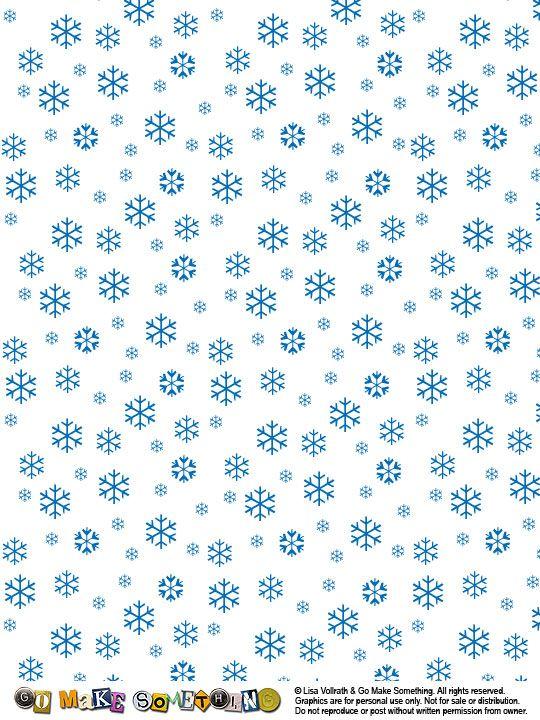 Go Make Something » Snowflake Set | Christmas paper, Printable paper, Paper background