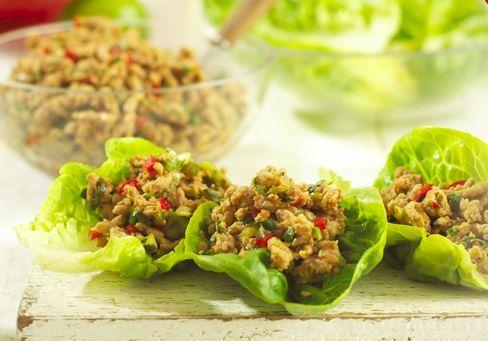Thai Mince in Lettuce Cups   Recipe   Recipes, Mince ...