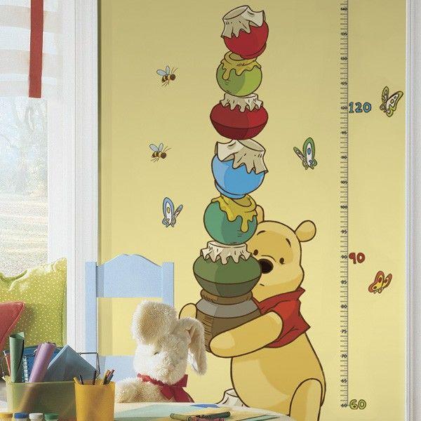 Winnie The Pooh Height Chart Wall Stickers | Winnie the Pooh Theme ...