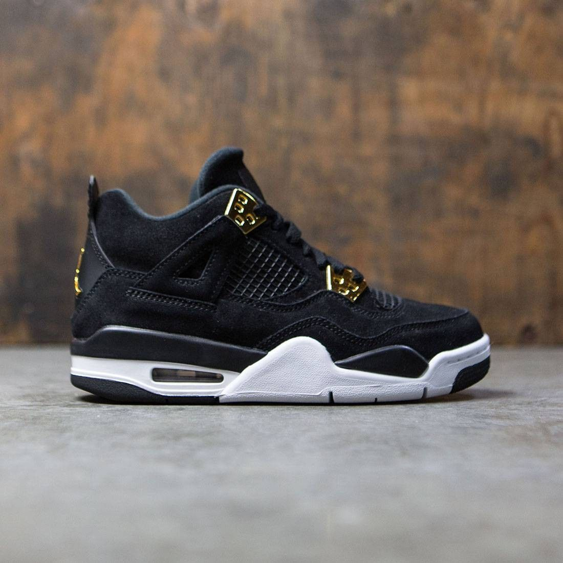 timeless design eb4f1 aefe5 Air Jordan IV Retro Big Kids (black   metallic gold-white)