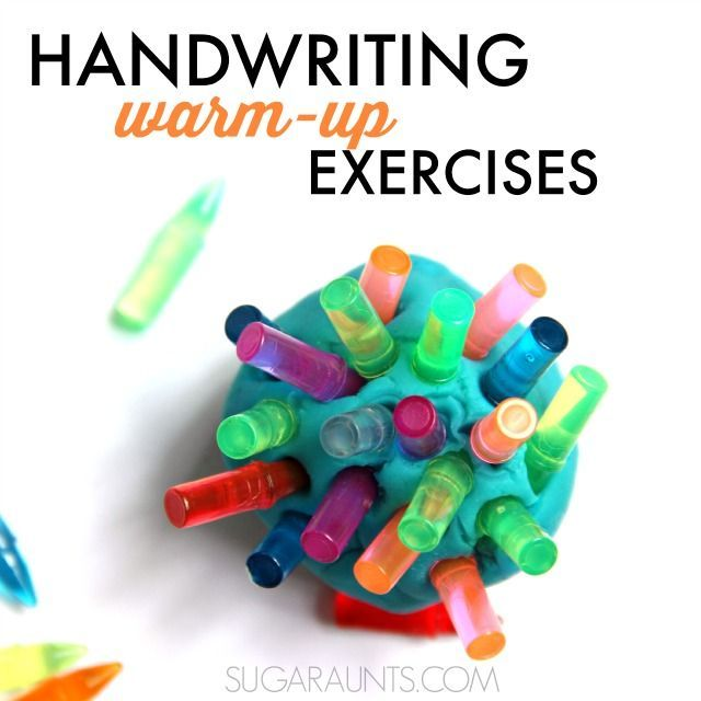 Handwriting Warm-Up Exercises for Little Hands   Warm ...