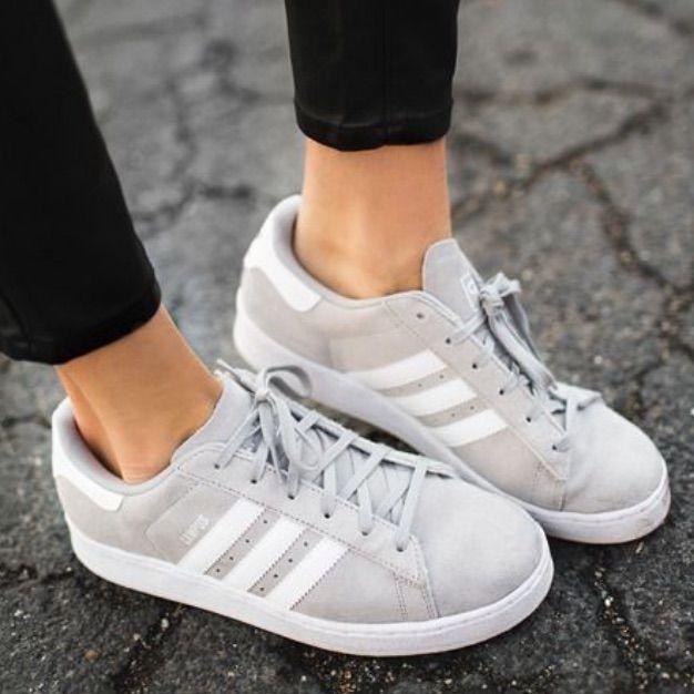Adidas Original Campus Grey Sneakers | Grey adidas, Grey