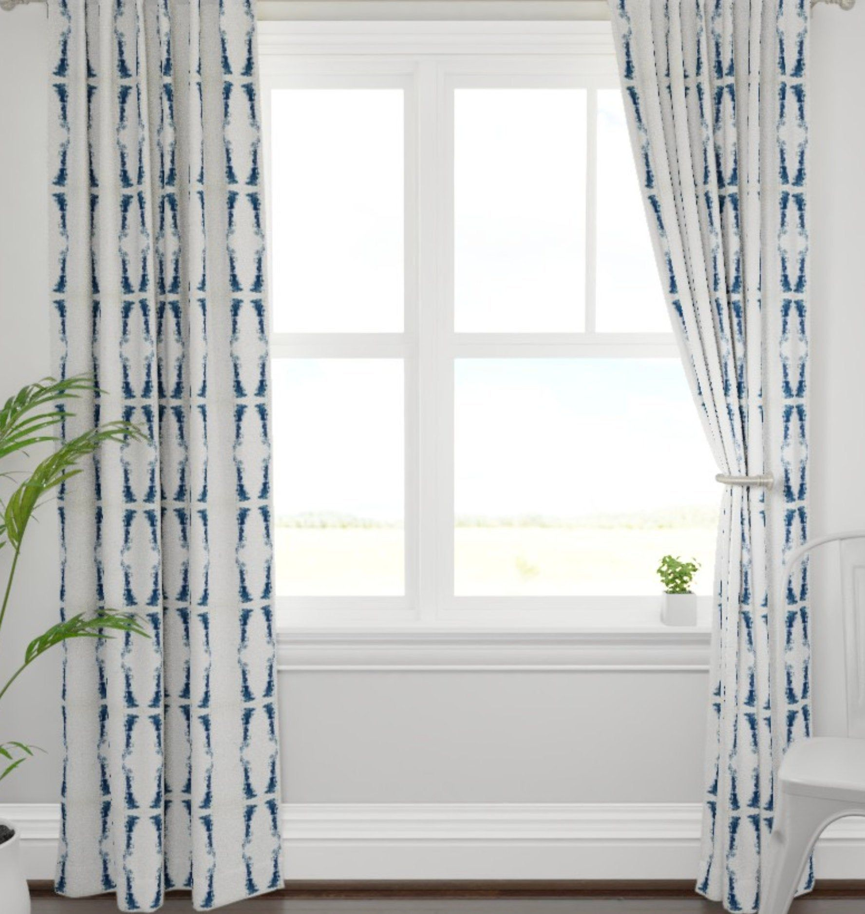 Navy Curtains Dark Blue And White Drapes Navy Ikat Curtains Navy