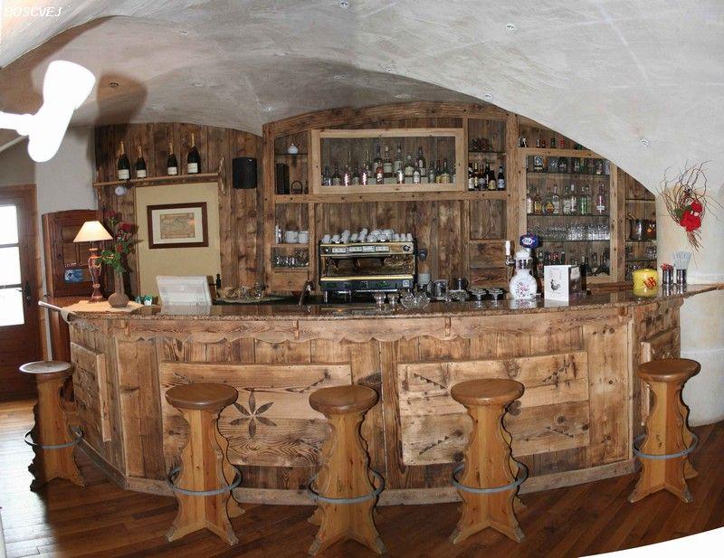 Risultati immagini per bancone bar legno casa - Bancone bar casa ...