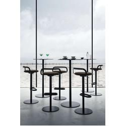 Photo of Lapalma Mak bar stool white lacquered Jet fabric (specify color in comment field) LaPalmaLaPalma