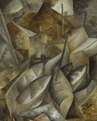 Georges braque bateau de p che 1909 teintes p les et for Braque peintre