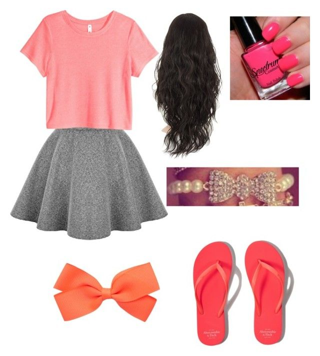 """""""Neon pink lover"""" by kittycat77 ❤ liked on Polyvore featuring beauty, H&M and Abercrombie & Fitch"""