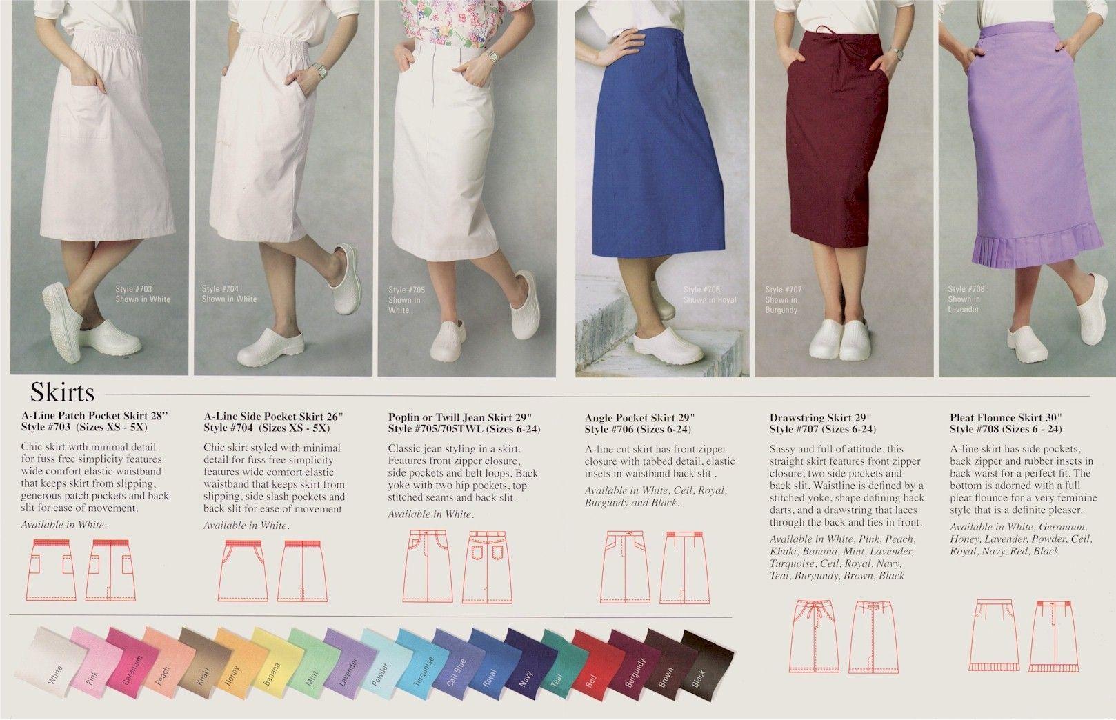 06828de3ffc Assorted skirts, medical uniforms, Medical scrubs, Wholesale, Distributor