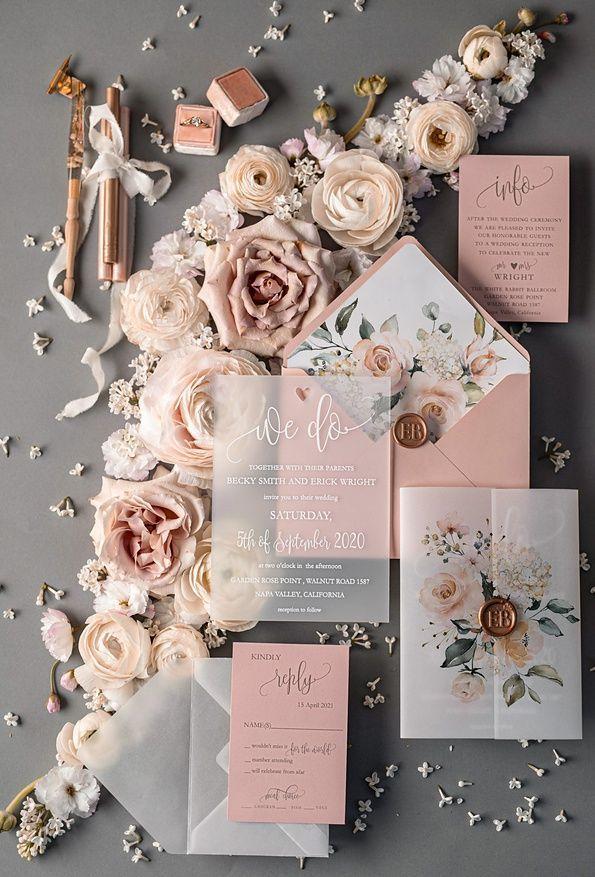 Photo of wedding invitations elegant / classic 50/acgnc/z