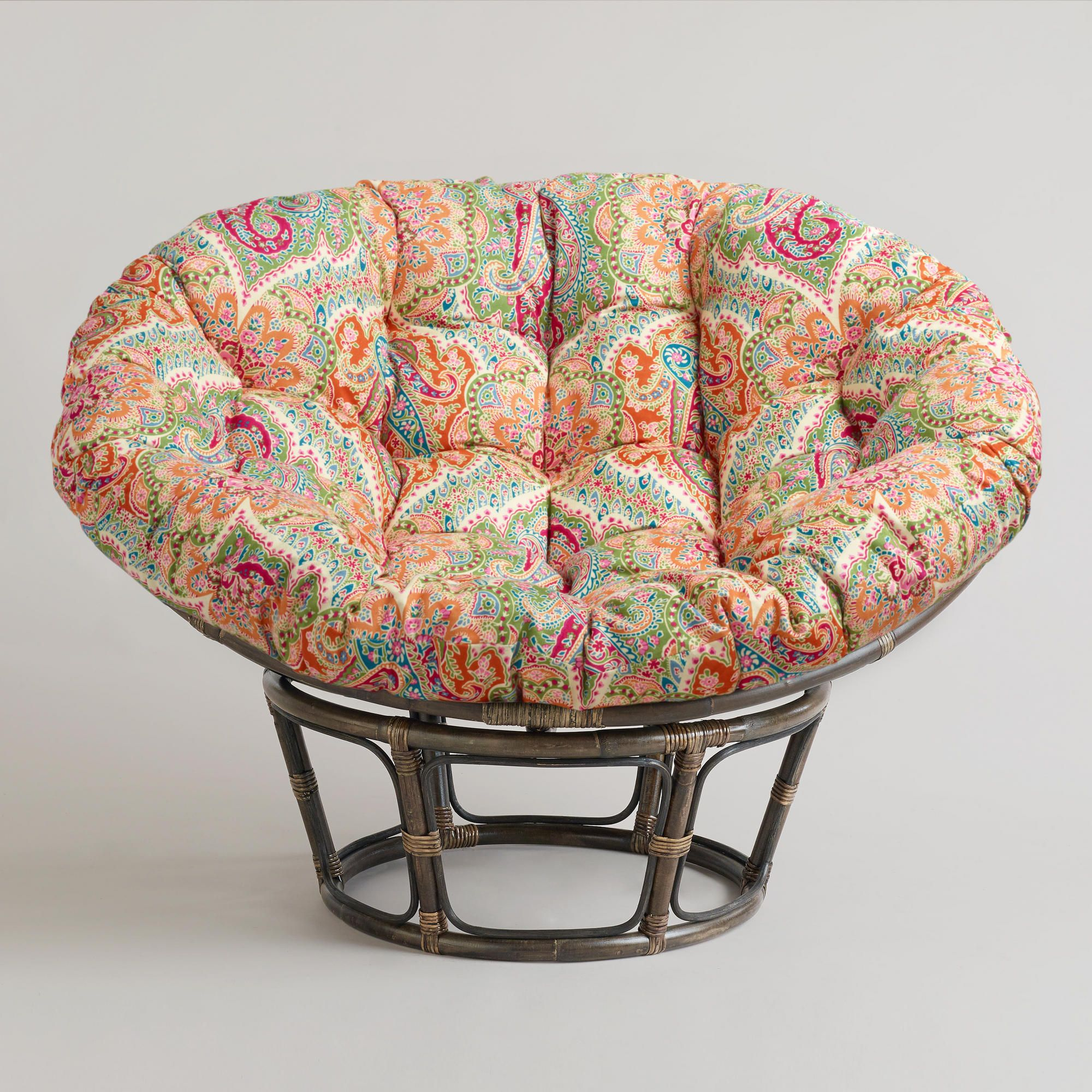 Delightful Cool Hanging Papasan Chair For Your Beloved Family: Round Papasan Chairs