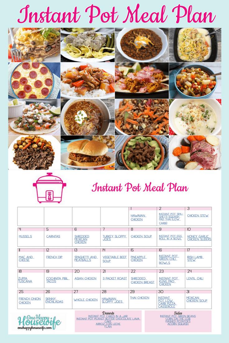 instant one pot diet plan
