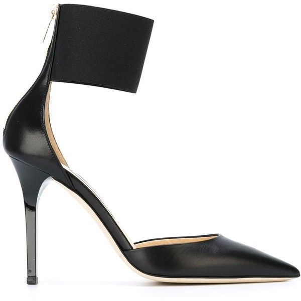 Jimmy Choo Trinny Pumps (5.880 ARS) ❤ liked on Polyvore featuring shoes, pumps, black, stilettos shoes, black pumps, pointed-toe pumps, high heels stilettos and black pointed toe stilettos