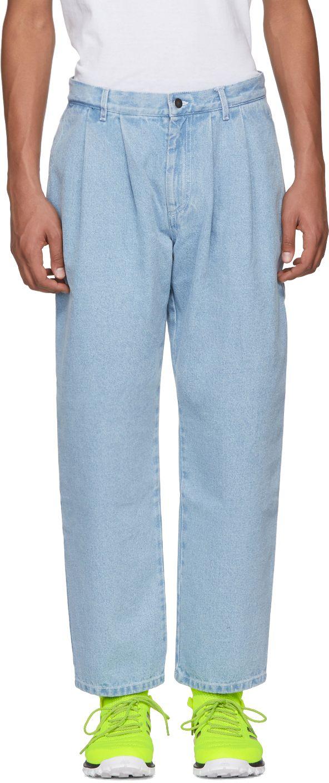 Discount Shop For Sale Online classic denim trousers - Blue Gosha Rubchinskiy Browse Cheap Online Largest Supplier Online Cheap Sale Fashion Style 2tIWugQfDA