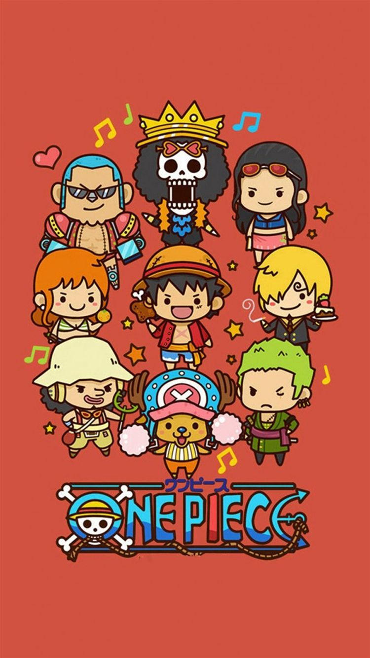 Cute Lovely One Piece Cartoon Poster iPhone 8 Wallpapers
