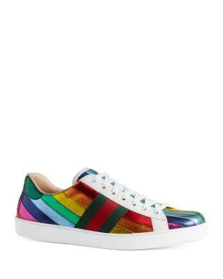 gucci metallic rainbow sneakers buy
