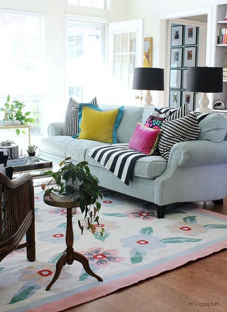 pops of color Decoracion Pinterest Sala de estar, Decoraciones