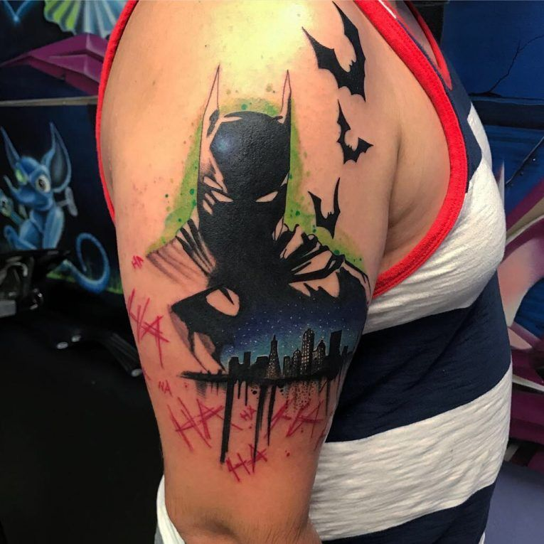 Batman Tattoo 102 Batman Tattoo Tattoos For Guys Batman Symbol Tattoos