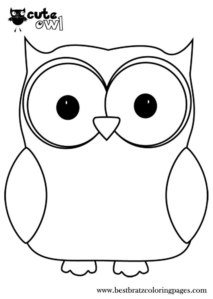 Cute Owl Template Google Otsing Owl Coloring Pages Owl Images Black And White Owl
