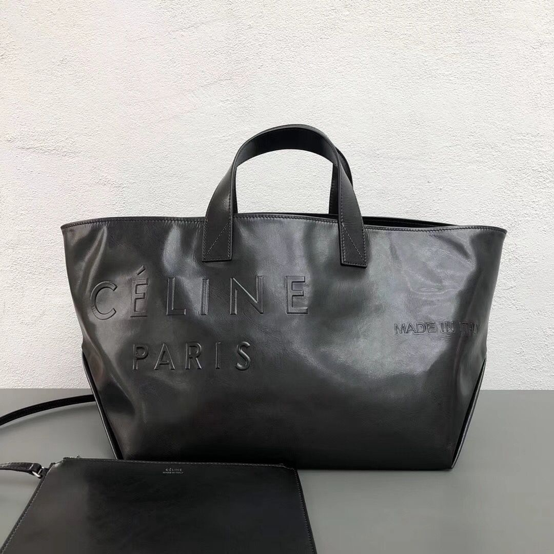 Celine Small Made in Tote in Black Calfskin 2018  1a3dcb517c53d