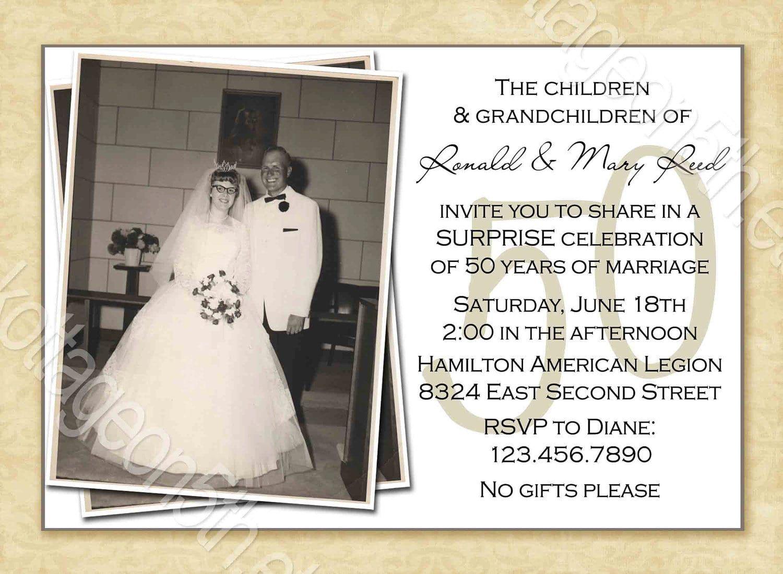50th Wedding Anniversary Invitations Throughout Keywor 50th