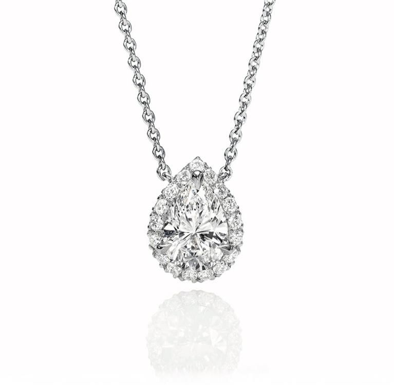 With or without halo harry winston pear shaped micropave pendant with or without halo harry winston pear shaped micropave pendant mozeypictures Images