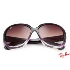 9b59064c78 Ray Ban RB4098 Jackie Ohh II sunglasses with purple frame and brown lenses