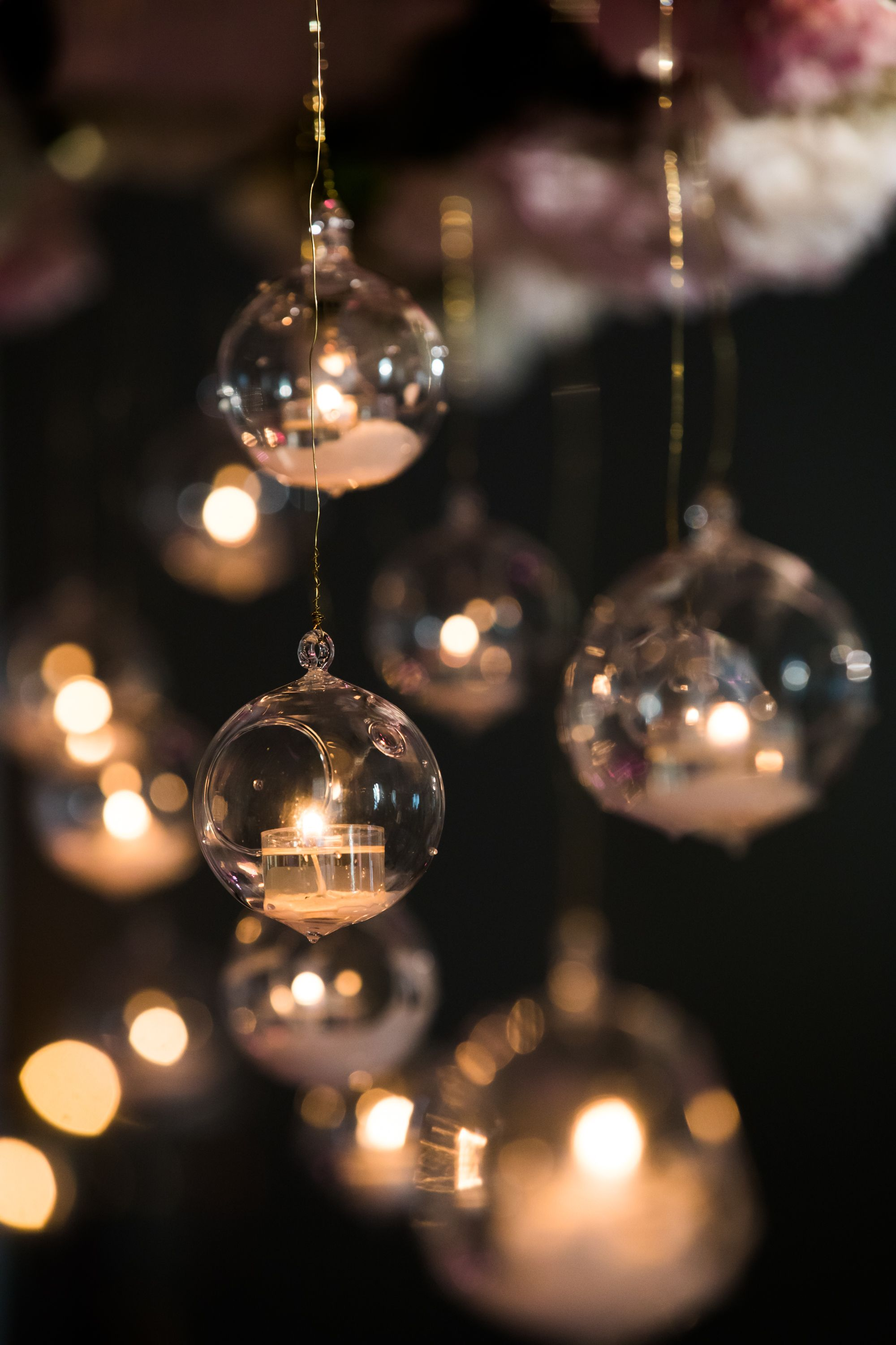 These Ornaments Created Such A Magical Look Inside The Ceremony Annkamphoto Chicagoweddingphotographe Copper Wallpaper Lit Wallpaper Beautiful Wallpapers