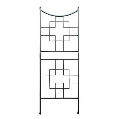 Achla Designs 86 In Wrought Iron Square On Squares Trellis Ftt