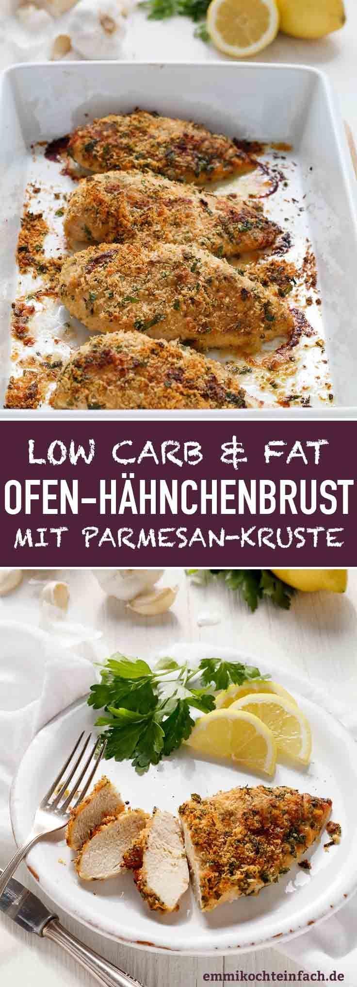 Hähnchenbrustfilet mit Parmesan Kruste - emmikochteinfach #chickenrecipes