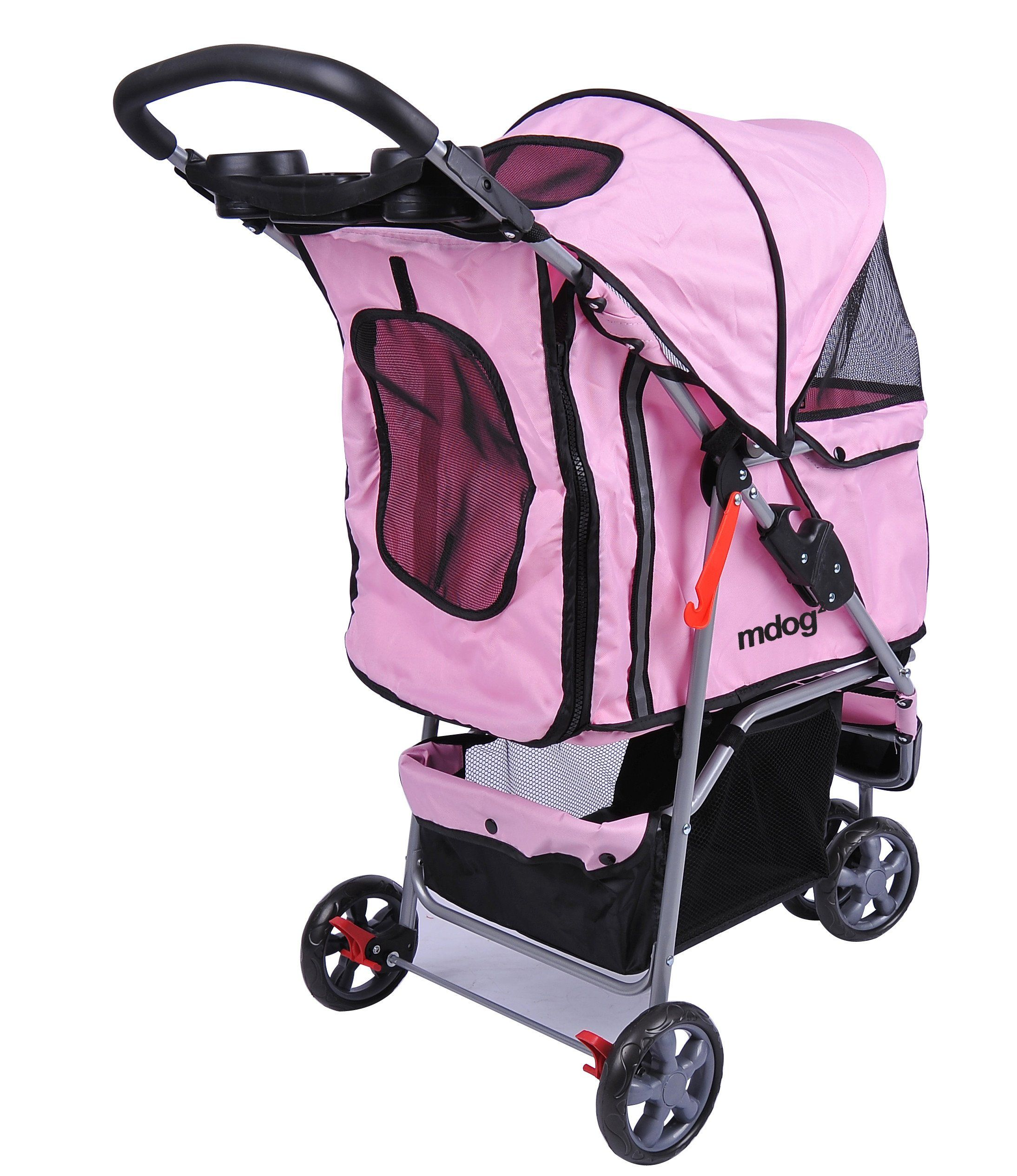 MDOG2 MK0015A 3Wheel Front and Rear Entry Pet Stroller