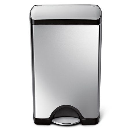 simplehuman 38 litre rectangular step trash can fingerprint-proof ...