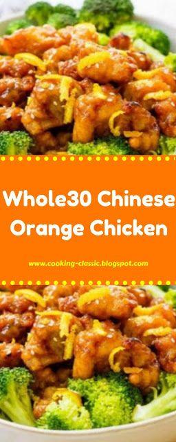Whole30 Chinese Orange Chicken #chineseorangechicken