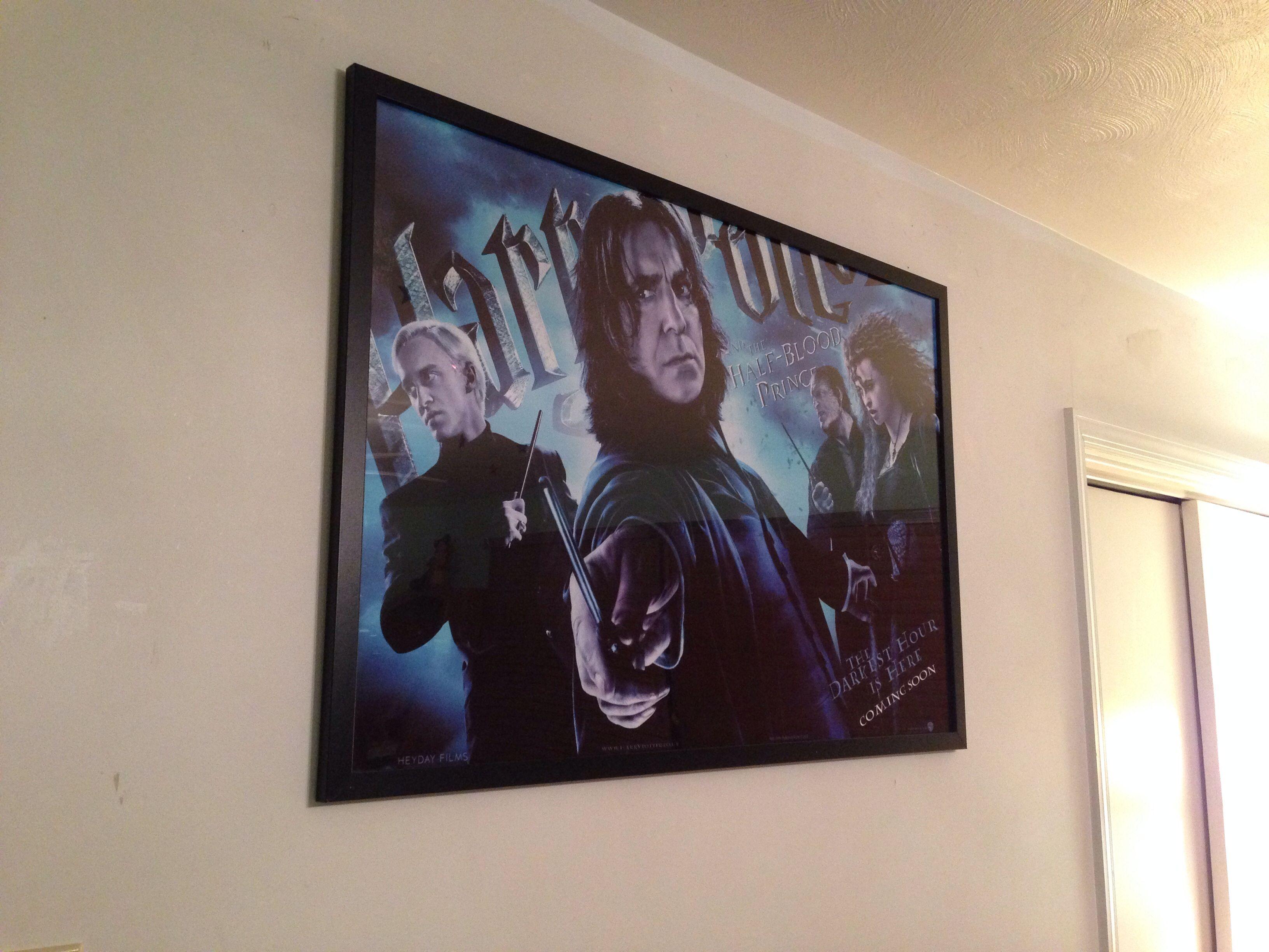 My new living room decor. Makes me smile. Love me some Severus Snape!