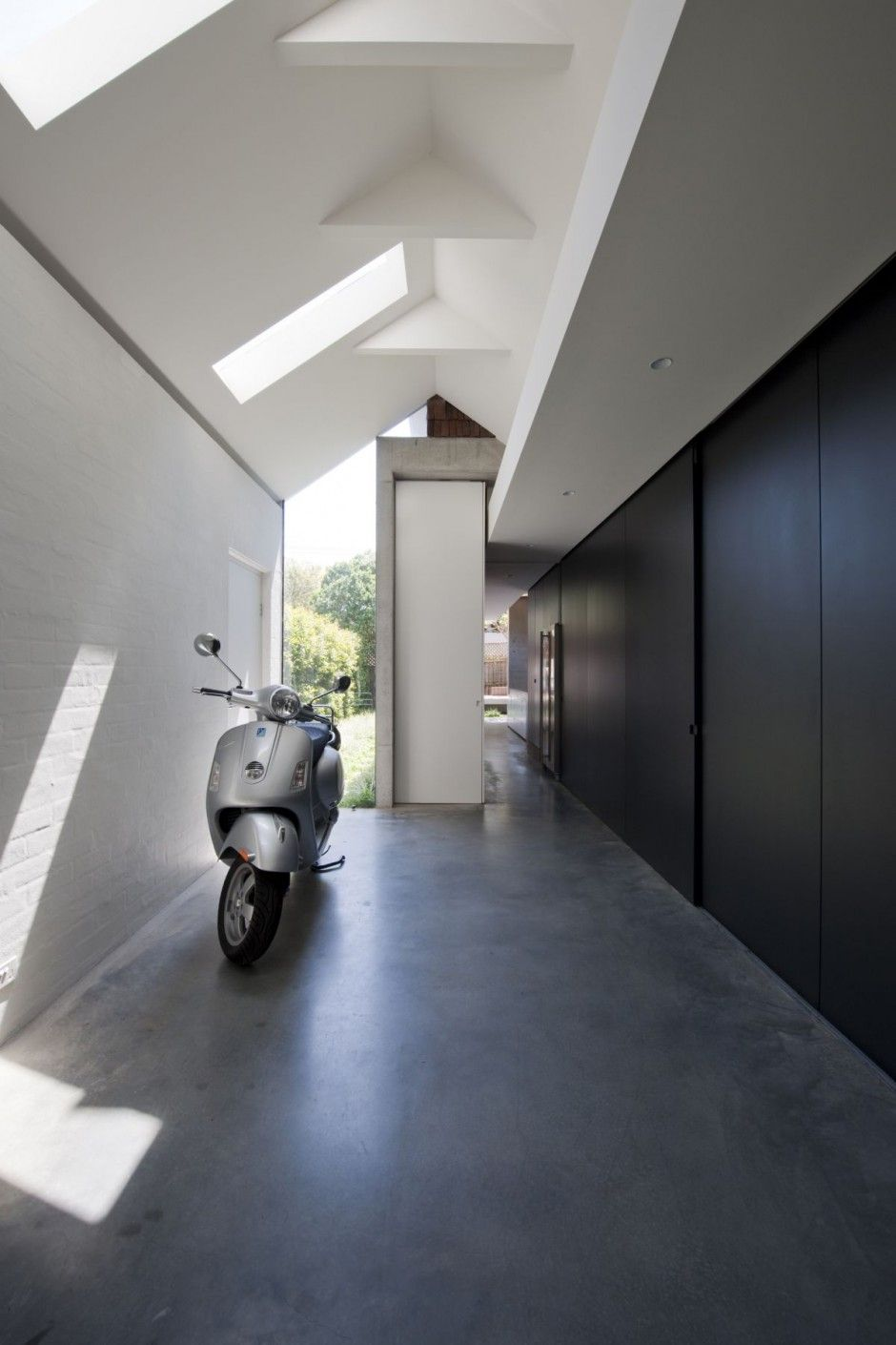 Minimalist House // The Perfect Place To Park Your Vespa   Itu0027s In The  Minimalist Entryway At The Queens Park House By MCK Architects »  CONTEMPORIST