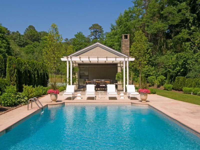 small pool cabana with bath google search - Pool House Plans