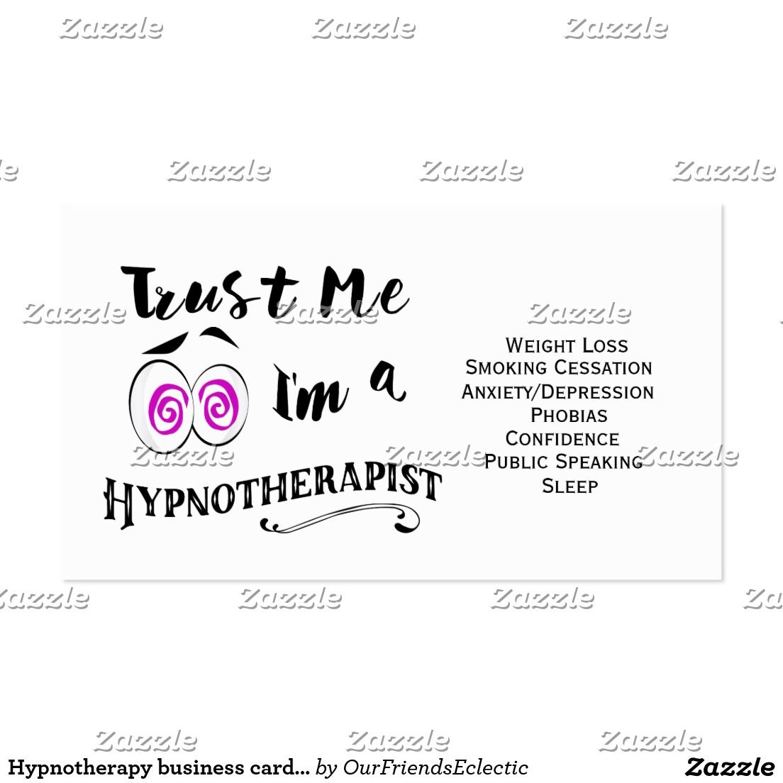 Hypnotherapy Business Card Hypnotherapist Holistic Name Card