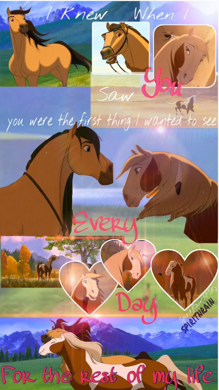 A Spirit Wallpaper I Made I Am Happy For You To Use It Just Give Me Credit And If You Could Leave A Comme Spirit And Rain Spirit The Horse Spirit