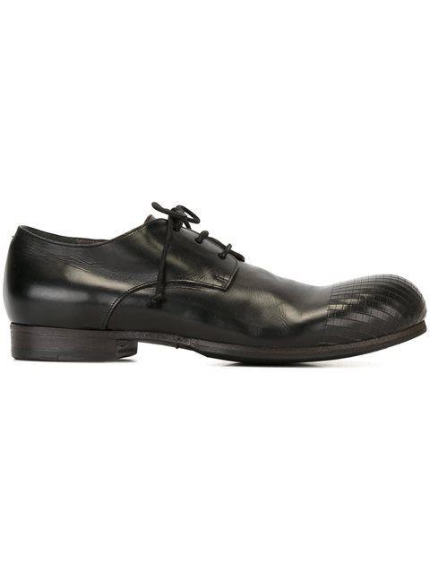 Washed-leather Derby Shoes - BlackMarsèll jGQFnAhc