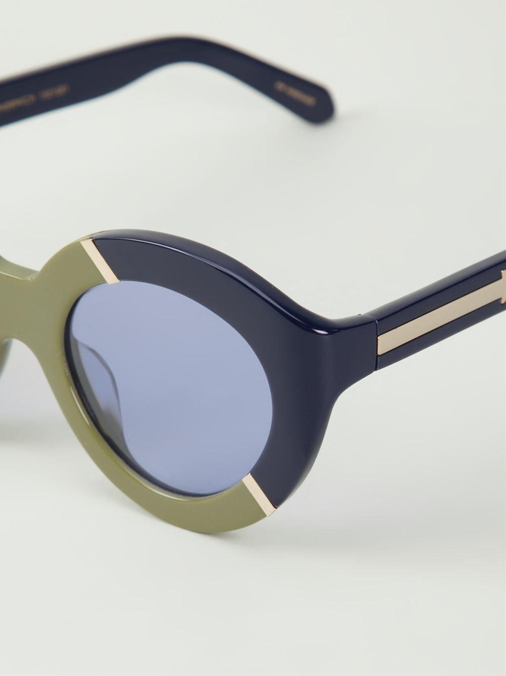 6620d5fa63 Shop KAREN WALKER EYEWEAR  Flower Patch  sunglasses from Farfetch ...