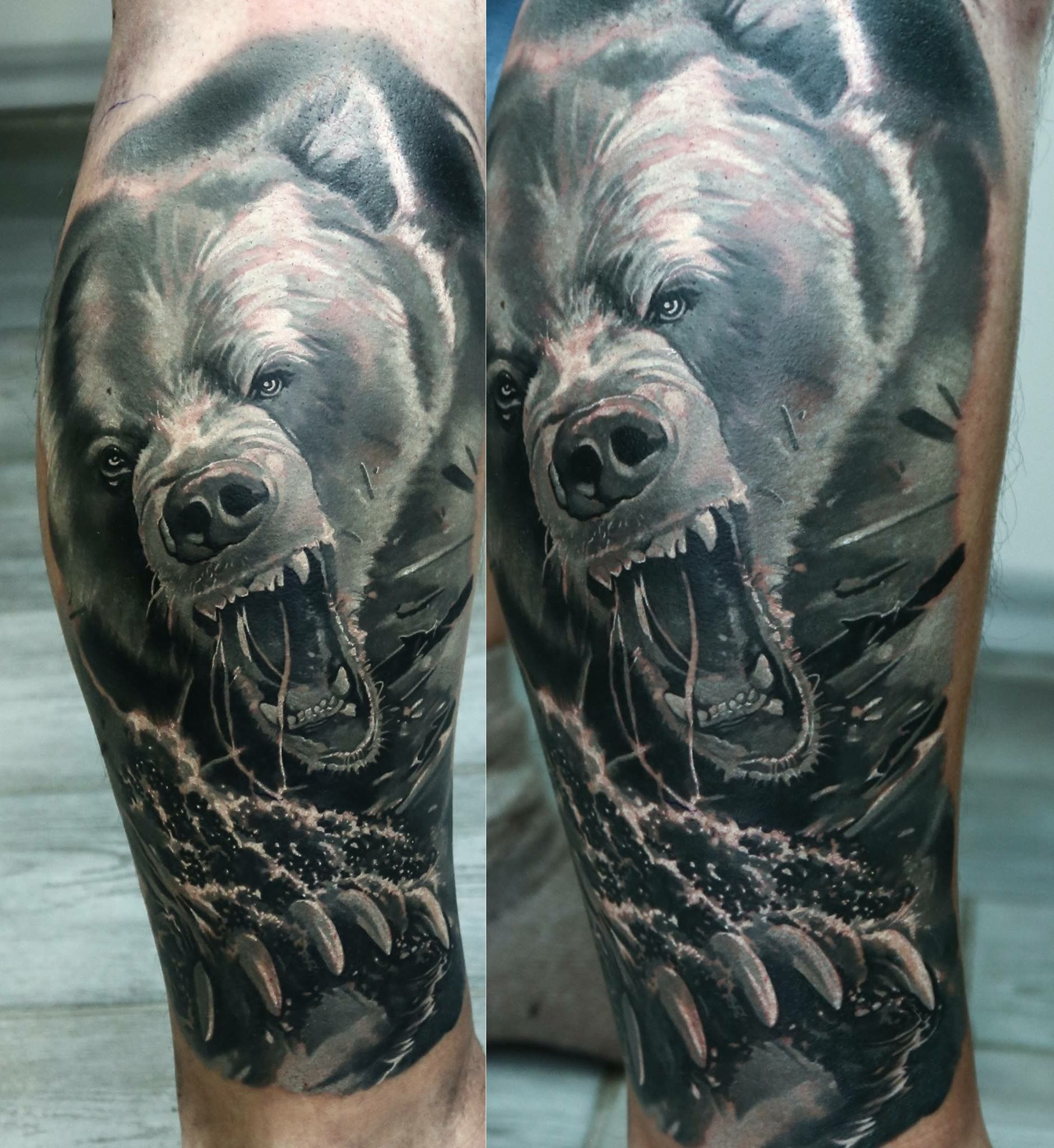 Pin by TattooHeros Lukáš Hrdina on Bear | Bären tattoo ...