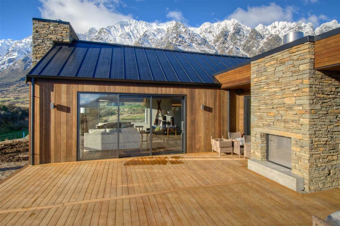 David reid homes queenstown show home house extension design l shaped house modern