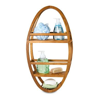 Teak Shower Caddy With Images Teak Shower Shower Caddy Hanging Shower Caddy