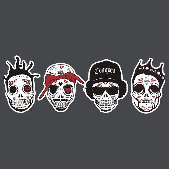 Rip Mc S Gangsta Rapper Sugar Skulls T Shirts Hoodies By