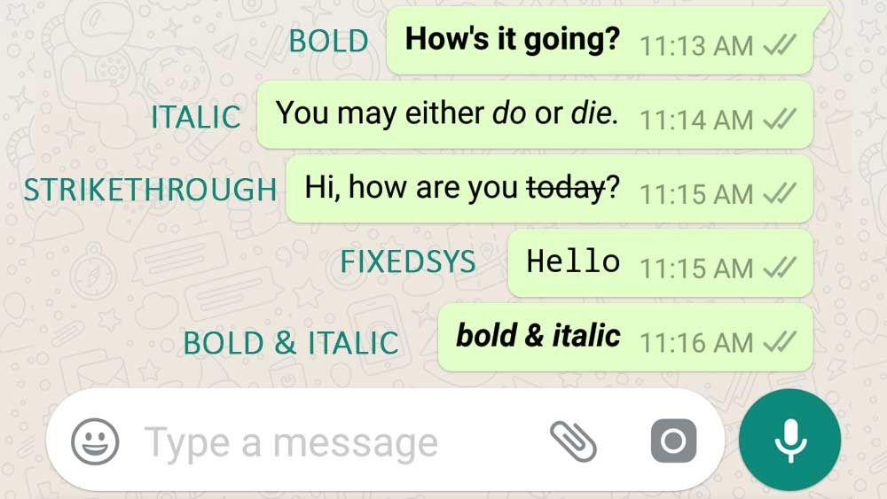 Whatsapp Font Style Bold Italic Strikethrough Fixedsys Etc Writing Styles Fonts Font Styles Writing Styles