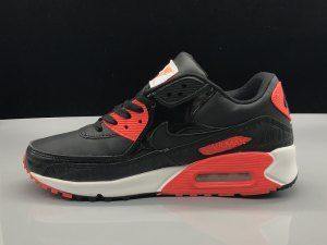 ef1ce68e3d83 ... promo code for mens womens nike air max 90 leather black university red running  shoes d7dcc