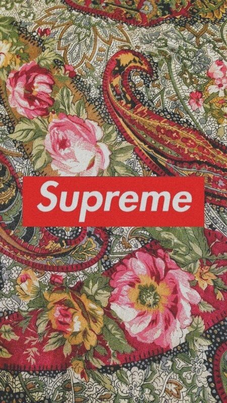 Supreme Floral Wallpaper Lifestyl