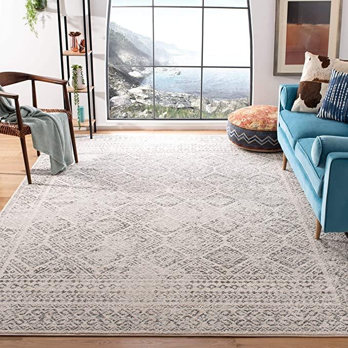 amazon com safavieh tulum collection tul262a boho moroccan distressed area rug 9 x 12 ivory on boho chic kitchen rugs id=57853