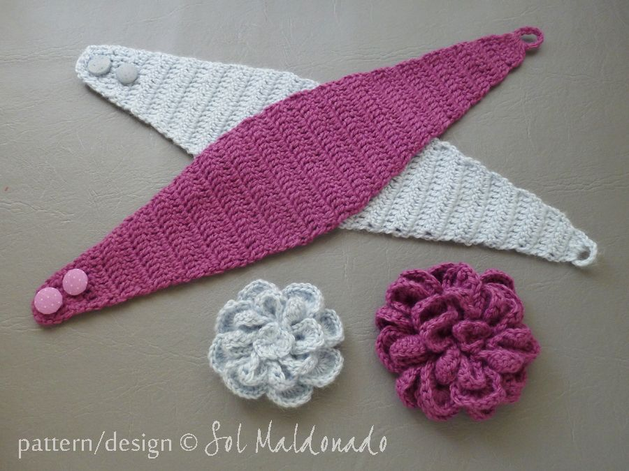 CROCHET PATTERN Flower Crochet Headband Pattern - Flower Easy Beginner Crochet - 5 sizes separated instructions - Instant Download headband #crochetedheadbands