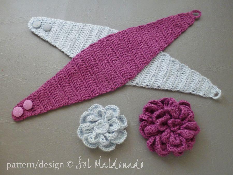 CROCHET PATTERN Flower Crochet Headband Pattern - Flower Easy Beginner Crochet - 5 sizes separated instructions - Instant Download headband #crochetedheadbands