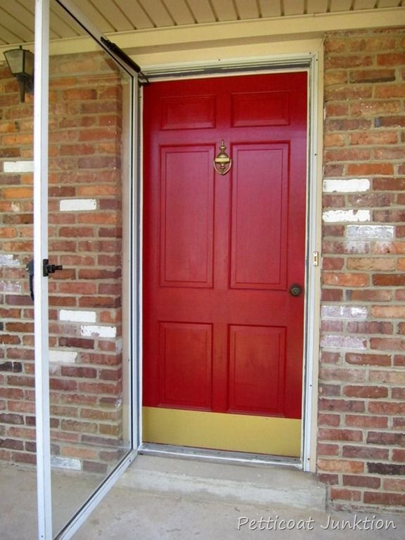 Budget front door updates that add curb appeal to your for How to spray paint doors